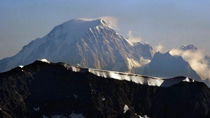 Uno scorcio del Monte Bianco