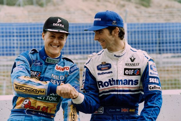 Michael Schumacher e Damon Hill