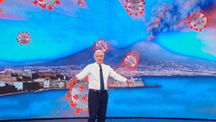 Massimo Giletti e il Vesuvio fumante