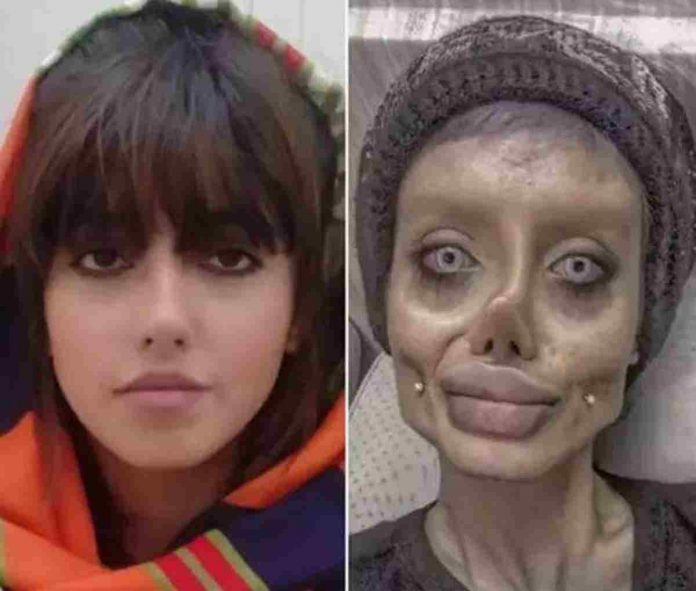 Sarah Tabar influencer Angelina Jolie zombie