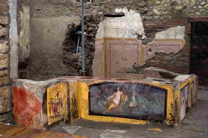 Scavi Pompei insulti omofobi termopolio/bar