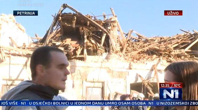 Uno screenshot da una tv croata