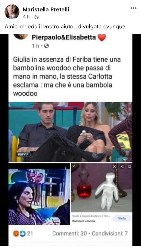 Tutti contro Giulia Salemi e Pierpaolo Pretelli: la zia rilancia un post su un presunto rito voodoo