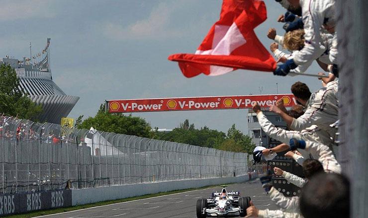 Robert Kubica mentre vince il GP del Canada