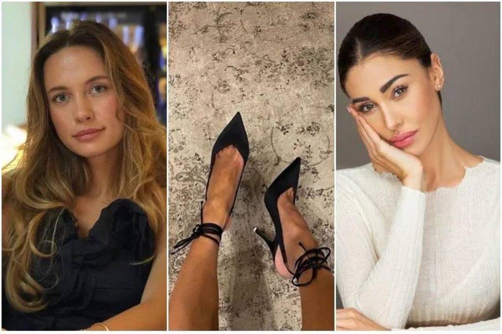 belen rodriguez foto rubata scarpe influencer russa