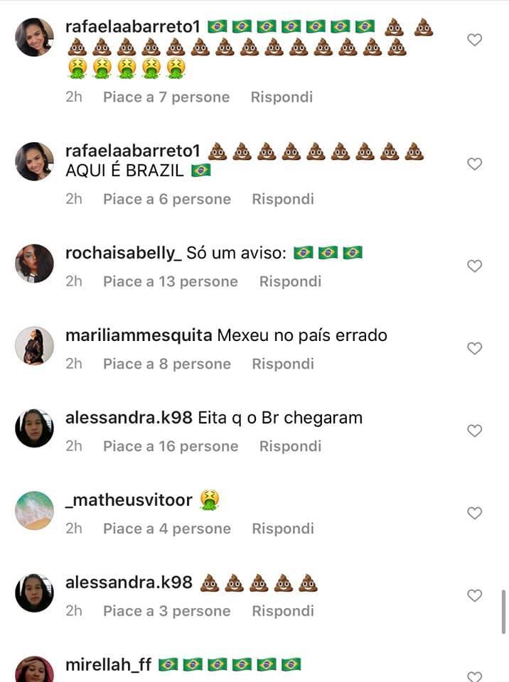 insulti fan brasiliani