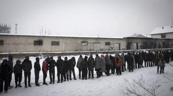 migranti bosnia gelo
