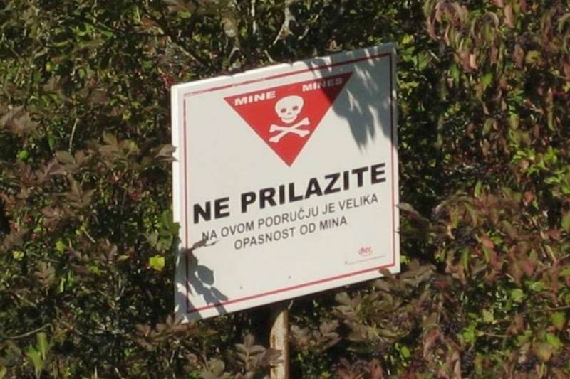 Mine anti uomo bosnia migranti