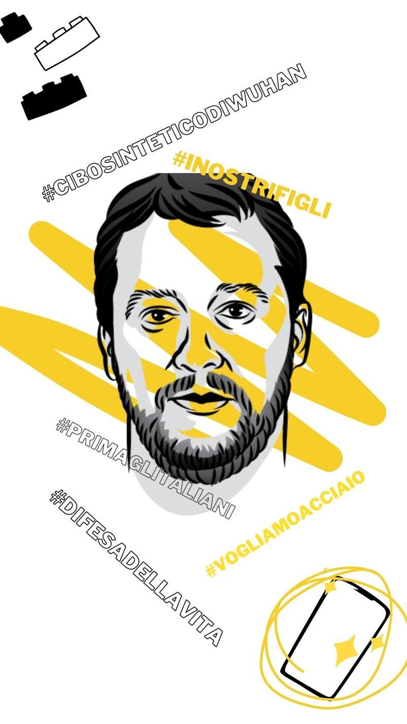 Salvini intervento Senato generatore hashtag
