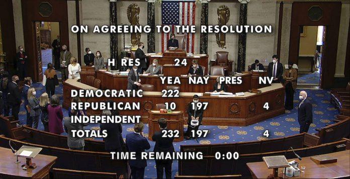 voti camera impeachment donald trump