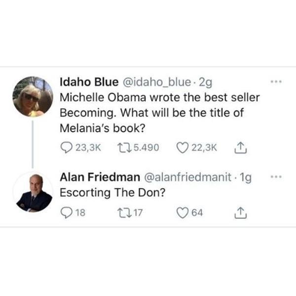 alan friedman tweet sessisti melania trump