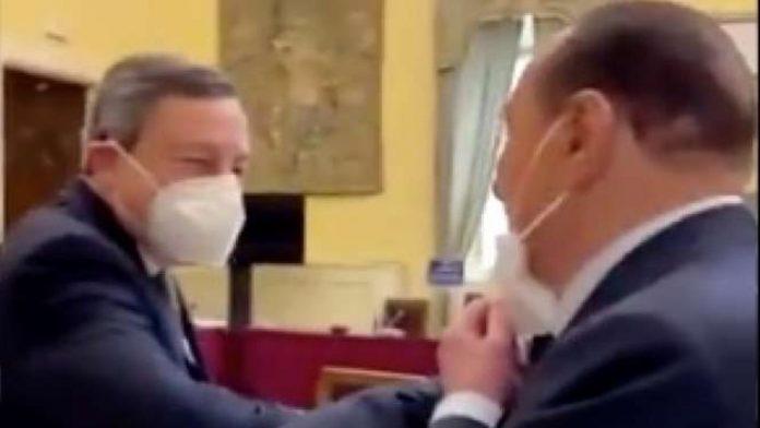 Mario Draghi e Silvio Berlusconi s'incontrano