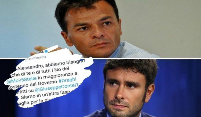 Stefano Fassina Alessandro Di Battista Movimento Cinque Stelle