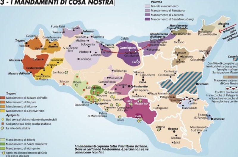 mappa clan sicilia