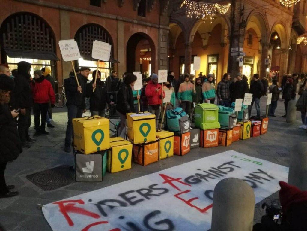 riders sciopero colossi delivery