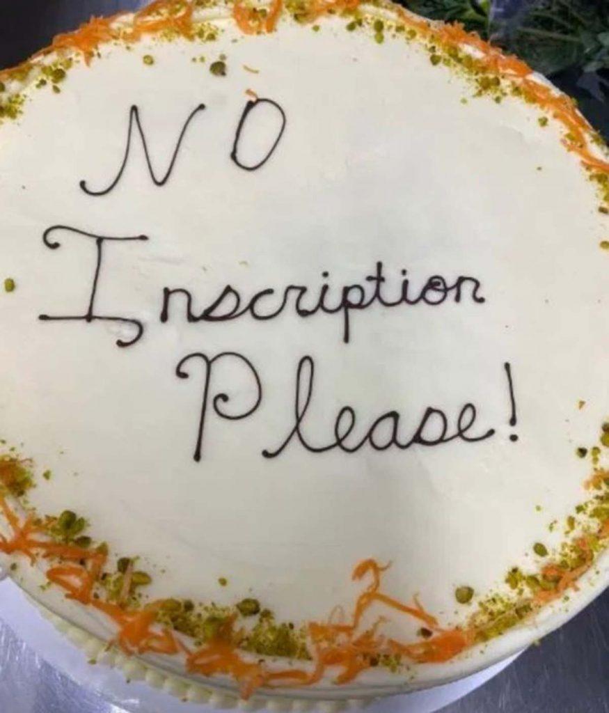 No inscription Please