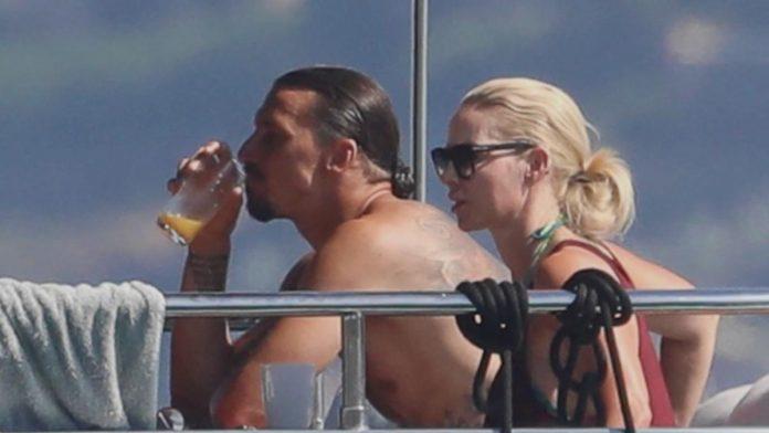Ibrahimovic con Diletta Leotta