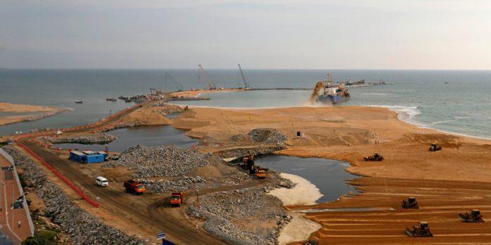 Estrazione intensiva sabbia