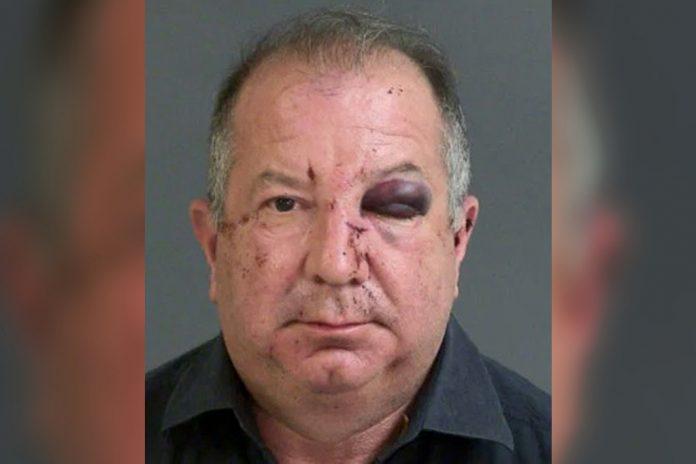 Uomo violento, ko ed arrestato