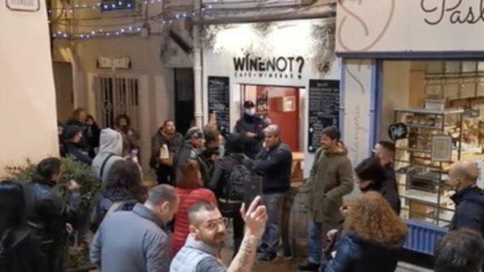 wine not protesta a Sanremo