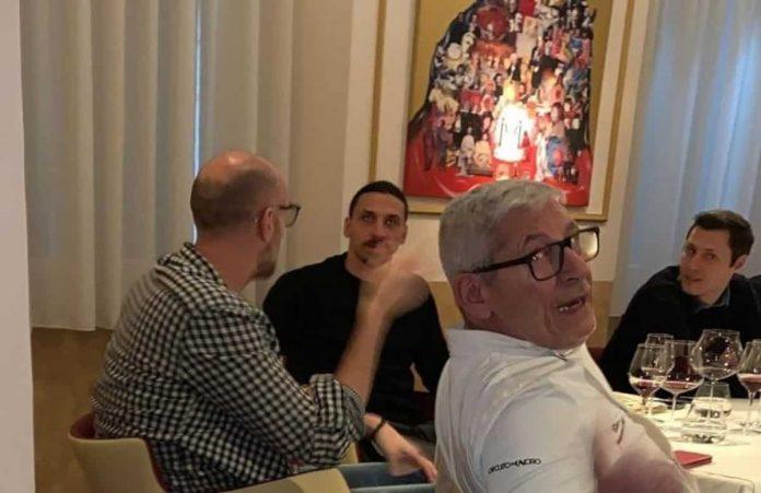 Ibrahimovic al ristorante