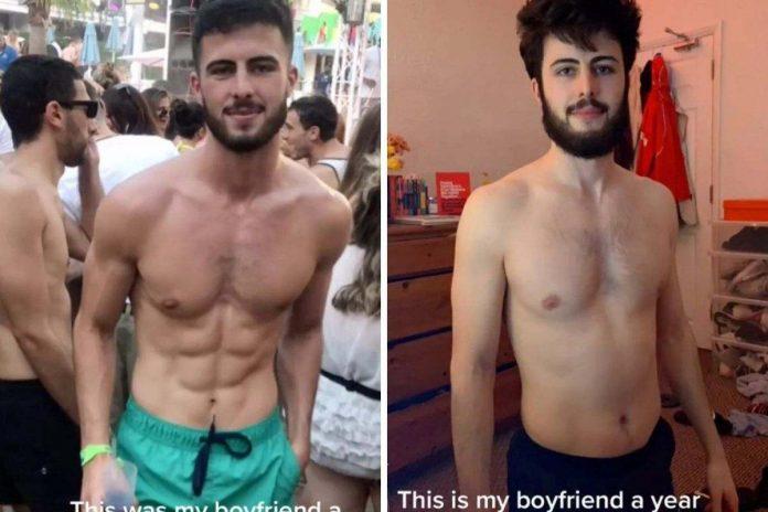 fidanzato prima e dopo