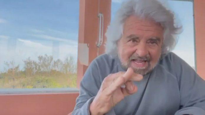 Screenshot del video di Grillo