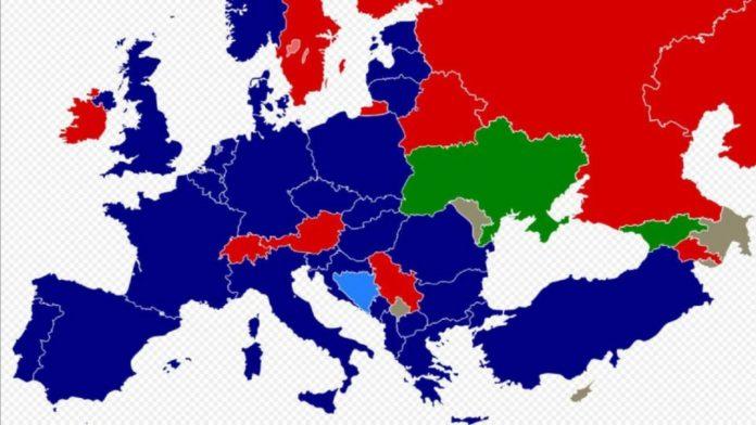 Mappa Nato paesi europei