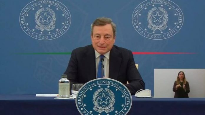 Draghi in conferenza stampa