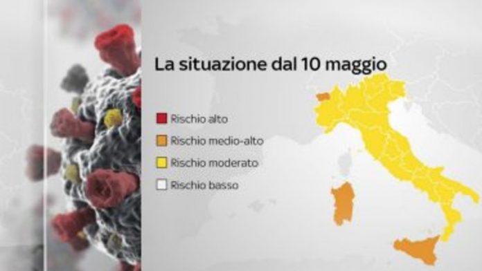 L'Italia a coloti, situazione 10 - 17 maggio