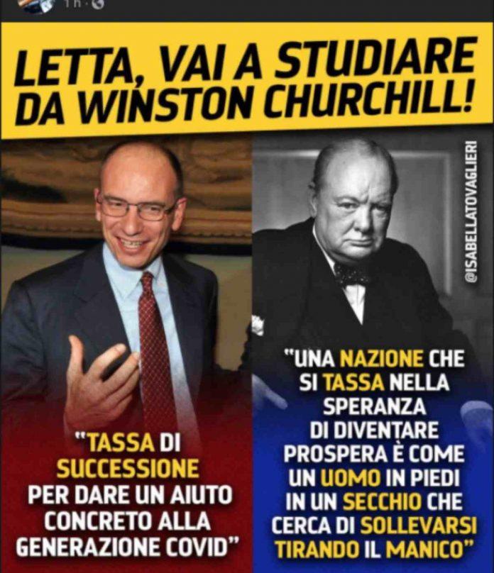 enrico letta winston churchill tiziano renzi patrimoniale