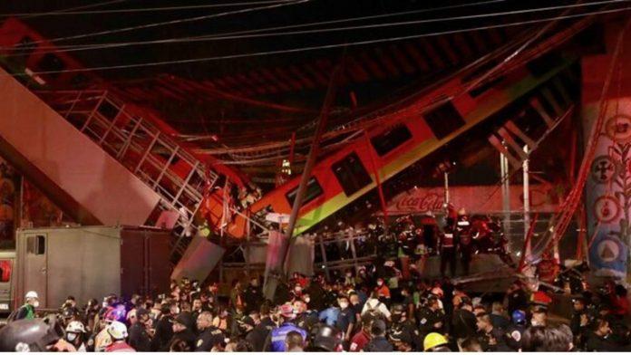 metro messico, il ponte collassato