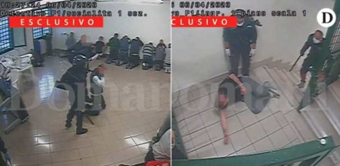 pestaggio carcere detenuti