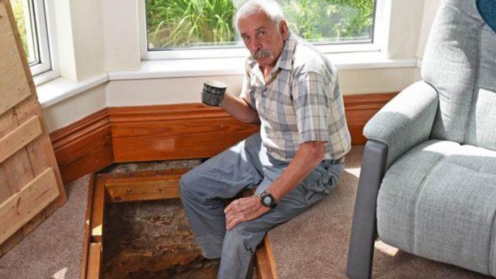 pozzo antico nel soggiorno