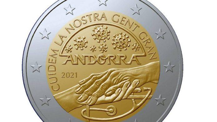 Moneta andorrana commemorativa covid