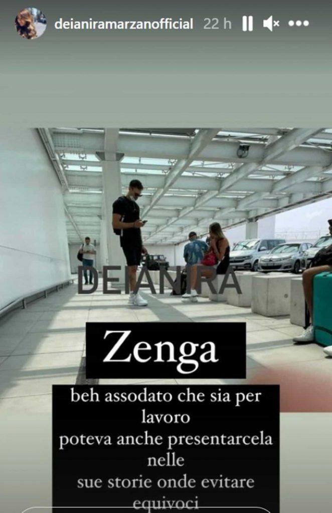 Andrea Zenga e Angelica aereoporto