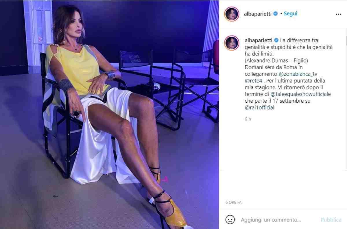 Alba Parietti attaccata sui social