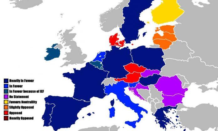 Legenda stati esercito europeo