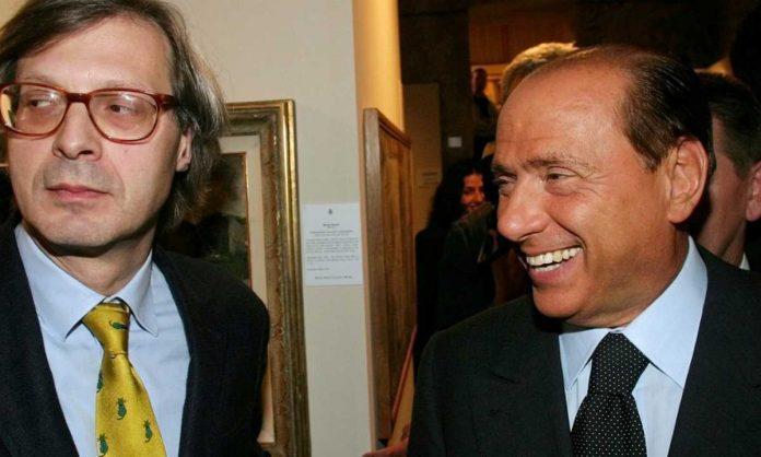Vittorio Sgarbi e Silvio Berslusconi