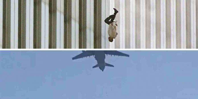 falling man aerei afghani 11 settembre torri gemelle