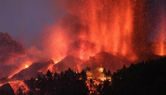 vulcano eruzione spagna canarie lava