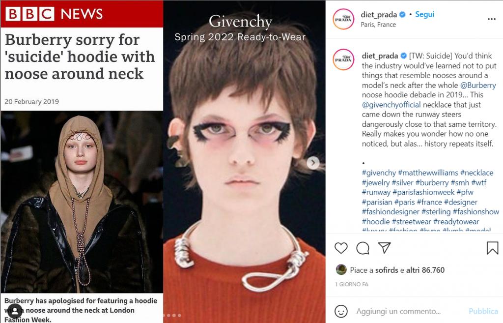 confronto Burberry Givenchy